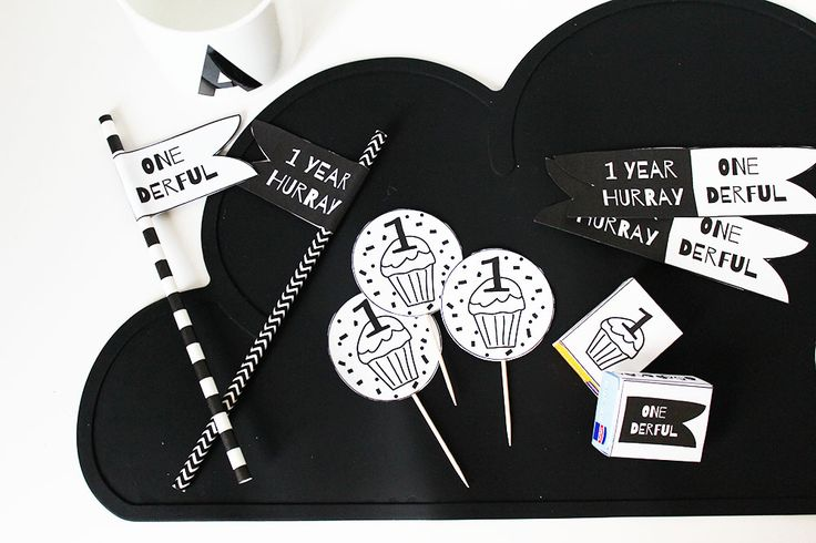 party printables monochrome verjaardagsfeest. Print nu monochrome versiering voor de eerste verjaardag #printables #firstbirthday #eersteverjaardag #kinderverjaardag #partydecoration