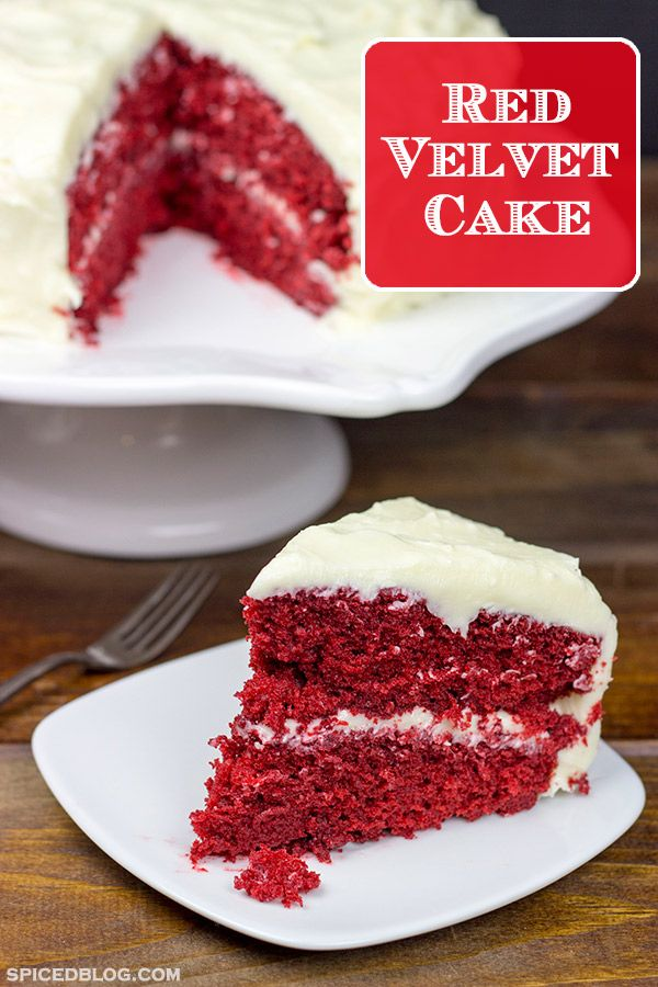 This classic Southern Red Velvet Cake is made with cocoa and buttermilk and topped with a tasty cream cheese frosting.