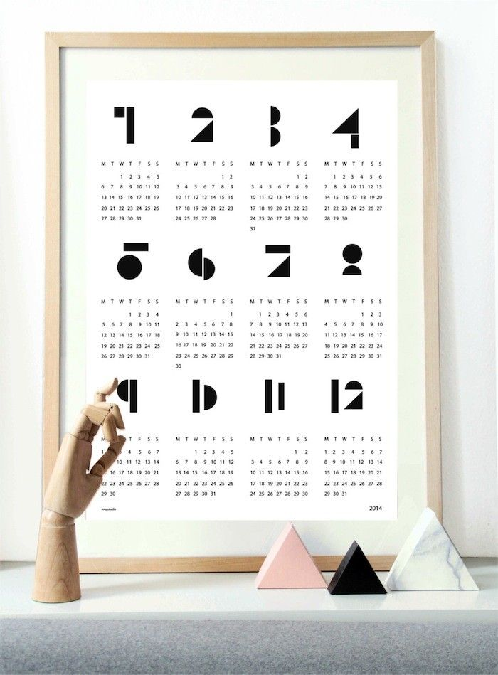 I like that shapes have been used to create each number. it is contemporary and geometric. I also like the simple use of colours; black and white.