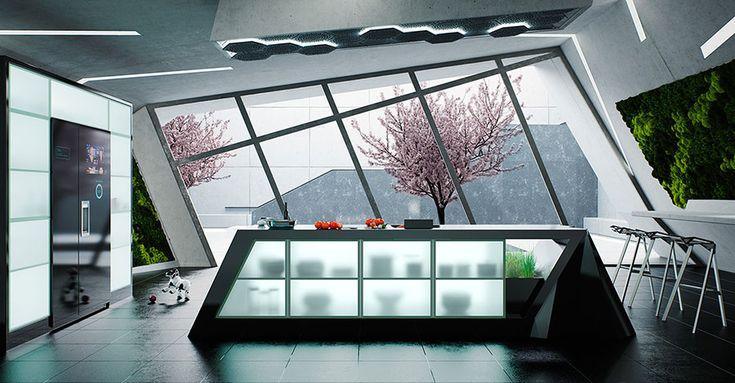 Cucina del futuro dal design innovativo 18