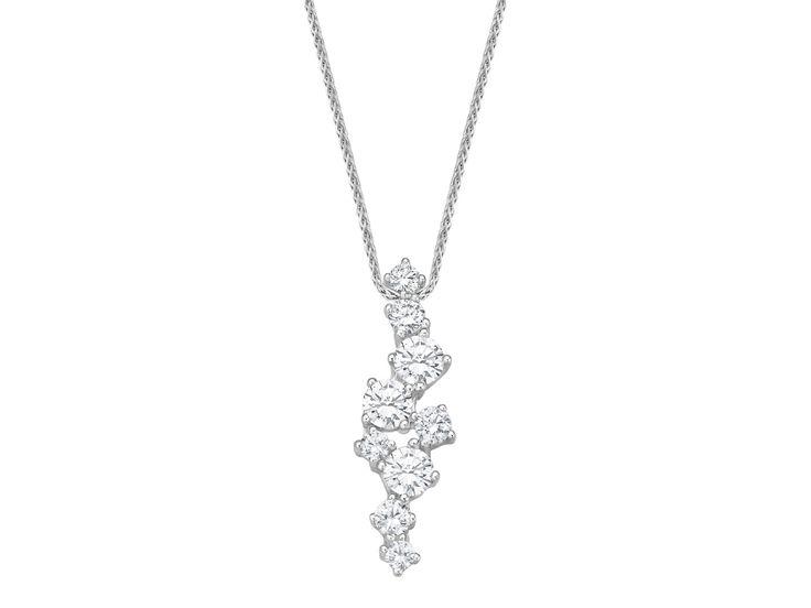 Diamonds are a girl's best friend! Kette mit Diamantanhänger von Bellaluce, 0,50 ct. w/si, WG 585