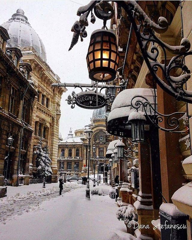Snowy delight. Bucharest, Romania. Photo by @dana.ms #aroundtheworldpix