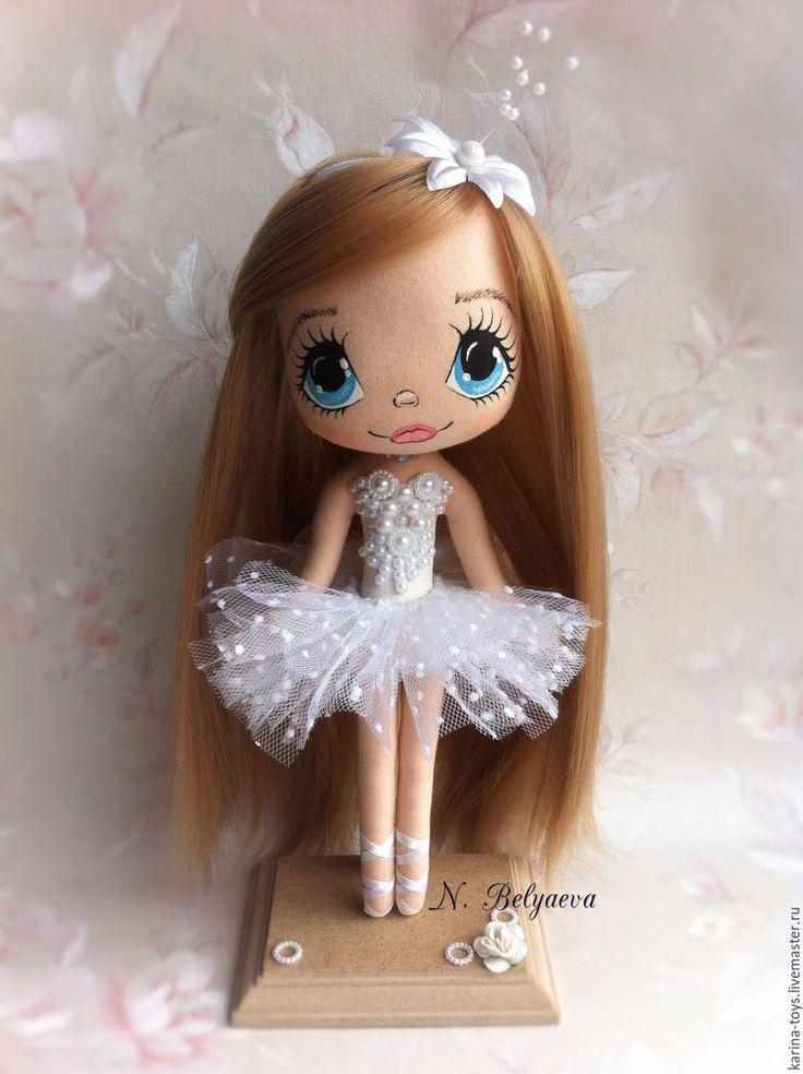 """Купить Куколка """"Балеринка"""" - белый, подарок на новый год, кукла, ручная работа, кукла ручной работы"""
