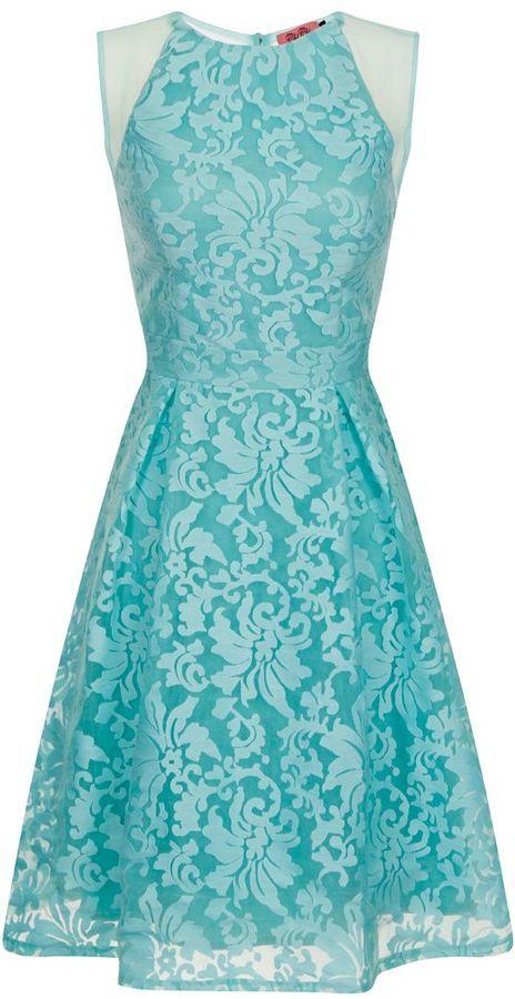Chi Chi London Embossed Midi Dress