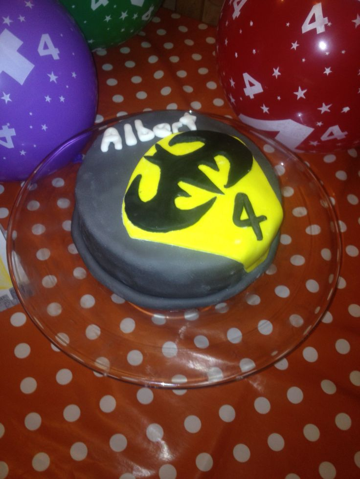 Batman spotlight cake
