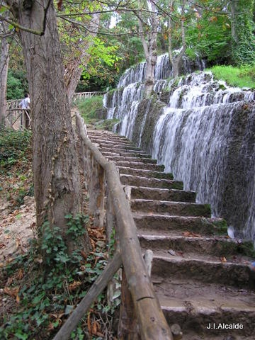 Monasterio de Piedra. We stayed at this monastery. What a dream this place. The monks created and tended the falls.