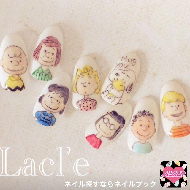 ネイル 画像 Lacl'e 博多 1497752 カラフル キャラクター オールシーズン ソフトジェル ハンド #Japanesenails #nails #snoopy
