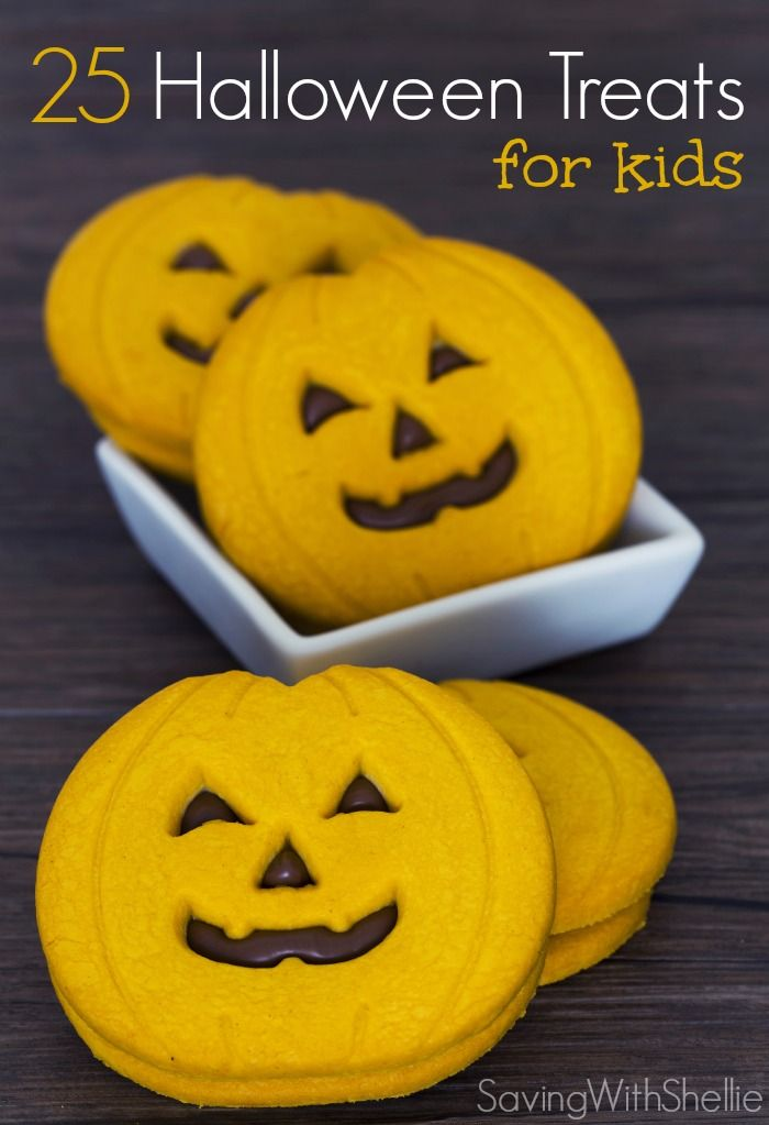 25 Halloween Treats filled with skeletons, witches, pumpkins and spiders. Cute or spooky, your little ghouls will love these Halloween Treats! #Halloween