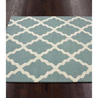Nuloom Hand Hooked Alexa Moroccan Trellis Wool Rug 9 6 X