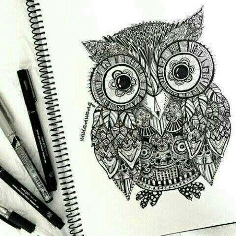 mechanic owl tatoo pinterest chouette et coloriage. Black Bedroom Furniture Sets. Home Design Ideas