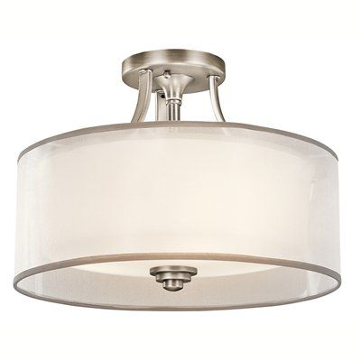 Kichler Lighting 42386 3 Light Lacey Medium Semi Flush Ceiling Light
