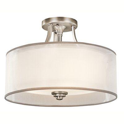 Kichler Lighting 42386 3 Light Lacey Medium Semi Flush Ceiling Light - Lighting Universe 220