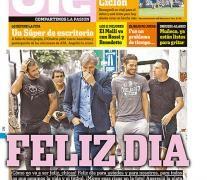 La tapa de hoy del diario deportivo Olé.