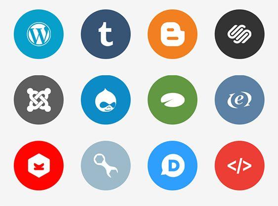 Wordpress Icon Flat