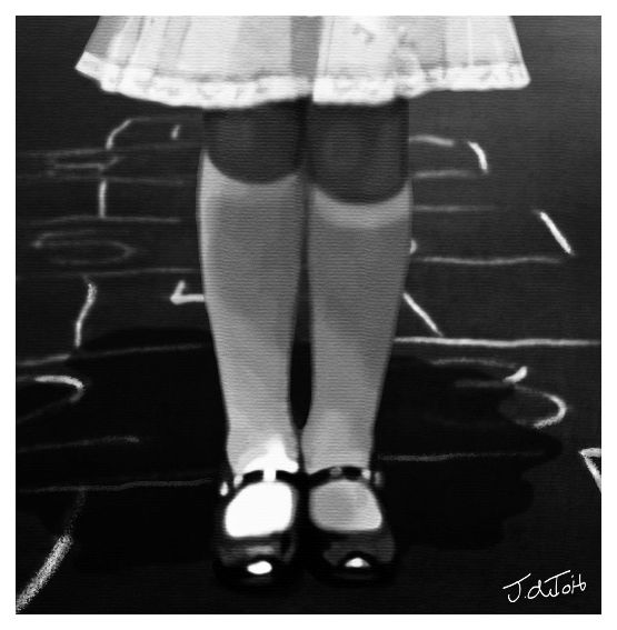 Hopscotch Black and White by tioTudnahtanoJ.deviantart.com on @DeviantArt