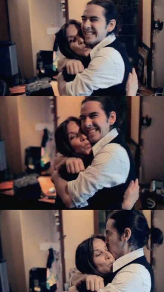 Olivia Arias-Harrison and Dhani Harrison