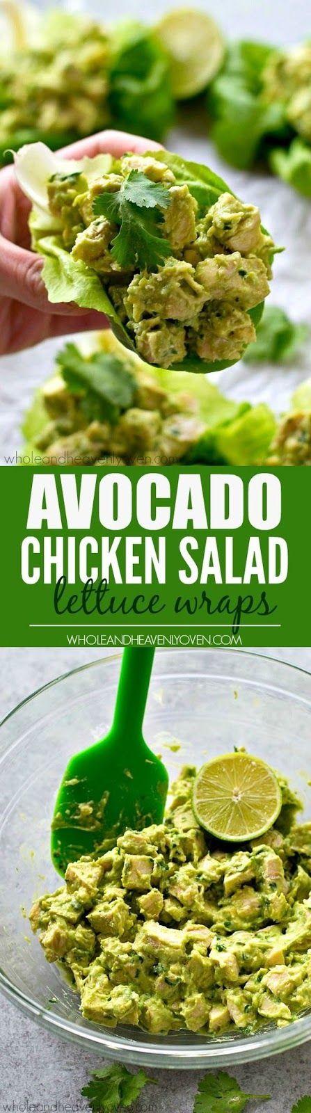 http://wholeandheavenlyoven.com/2016/03/31/avocado-chicken-salad-lettuce-wraps/
