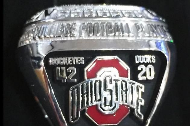 Let's Take a Look at Ohio State's New CFP Championship Rings