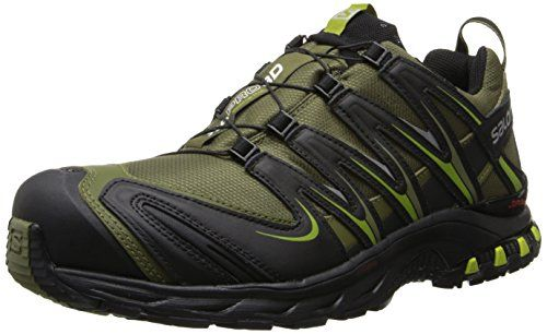 Salomon Men's XA Pro 3D CS WP Trail Running Shoe,Iguana Green/Black/Seaweed Green,8 M US. A 3D Advanced Chassis provides foot-propelling, rebounding energy and added cushioning and traction. Size: 8 D(M) US. Molded, shaped EVA footbed lends durable support and the tenacious Contragrip sole sticks to mountainous terrain. A Sensifit upper keeps all this wrapped up in a foot-hugging package for optimal, comfortable efficiency. The breathable, flexible waterproof membrane keeps foot dry.
