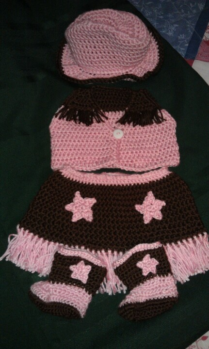 Crochet infant cowgirl outfit Crochet patterns ...