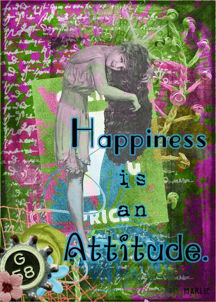 Happiness created by Marlie with with Itty Bitty Artist Trading Card Kit by 2 Curly Headed Monsters Designs available @ Mischief Circus. Thanks for looking.