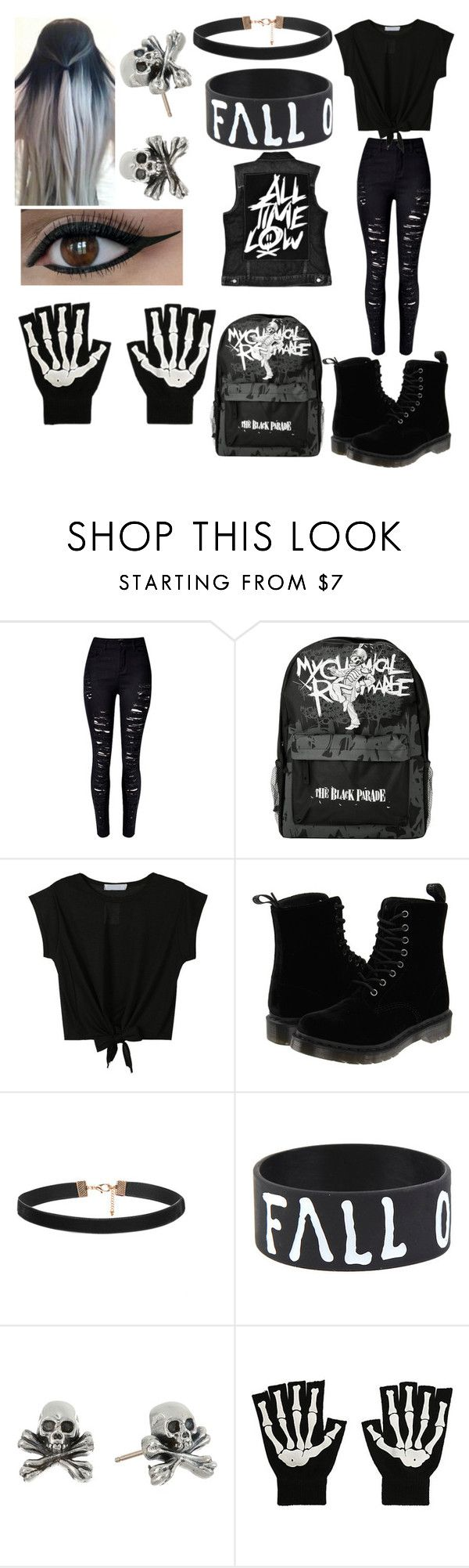 """""""My Sister's Outfit #1"""" by bts-got7-block-b ❤ liked on Polyvore featuring Dr. Martens, King Baby Studio, women's clothing, women, female, woman, misses and juniors"""