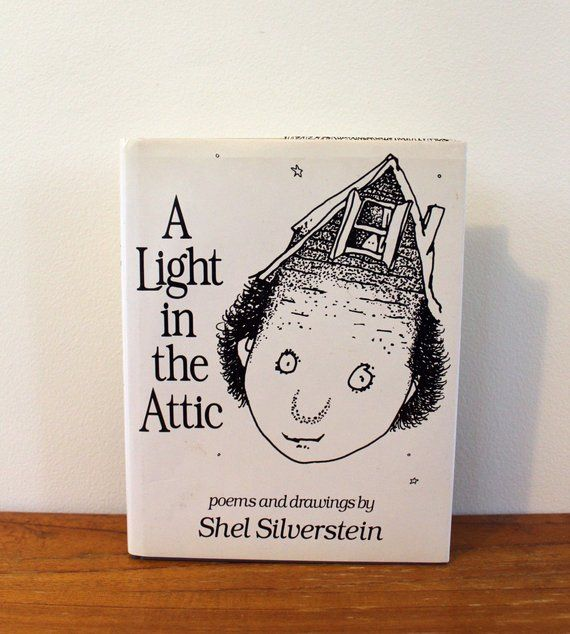 A Light In The Attic Shel Silverstein Poetry Collection Vintage Book First Edition Hardcover 1981 Il Vintage Book Shel Silverstein Book Design