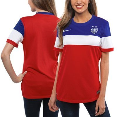 I need this! Nike US Soccer Ladies 2014/25 Away Replica Jersey - Red/White/Royal Blue