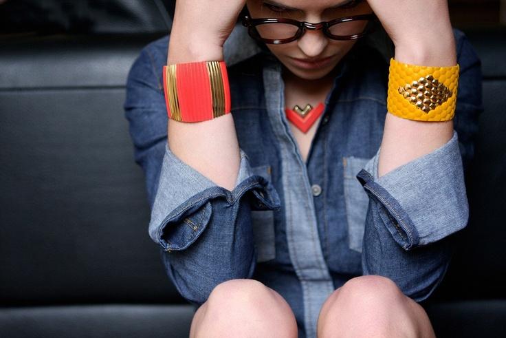 manchettes / cuffs Elise & Suzanne  collection anne thomas