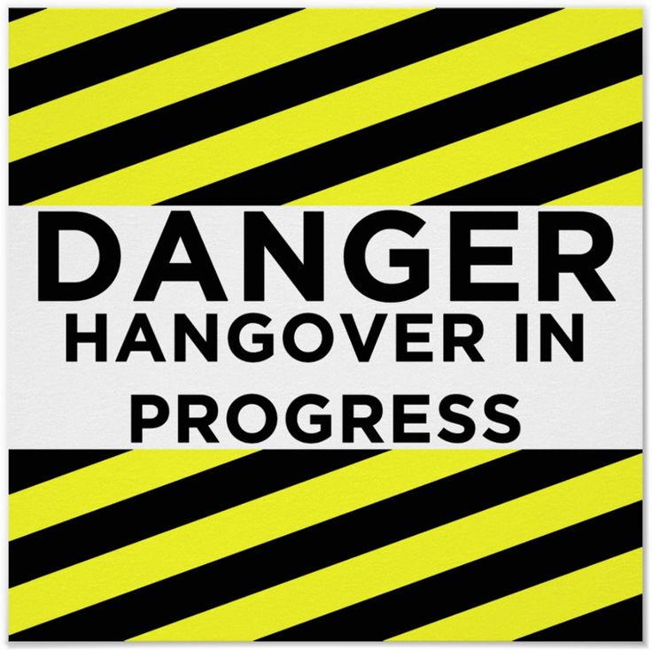 Danger Hangover In Progress - Poster. The post party sign for the door http://www.zazzle.com/danger_hangover_in_progress_poster-228588103913998918 #poster #humor #humour #hangover #drinking