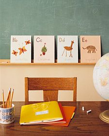 Fall DIY: Leaf alphabet collage project for kids. Love this!