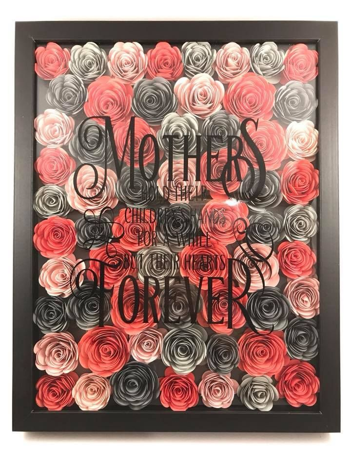 Cricut Inspiration Mother S Day Gift Paper Flowers Mother S