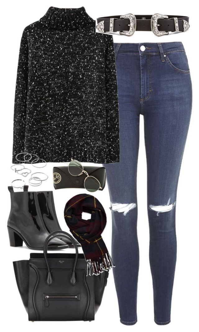 Outfit with a sweater and jeans for winter by ferned on Polyvore featuring polyvore, fashion, style, Topshop, Acne Studios, LC Lauren Conrad, Abercrombie & Fitch, B-Low the Belt, Ray-Ban and clothing