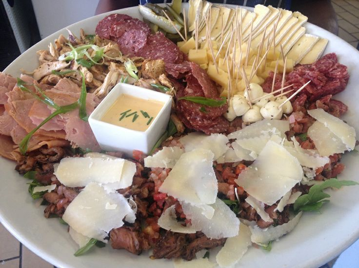 Meat and cheese platter with a twist