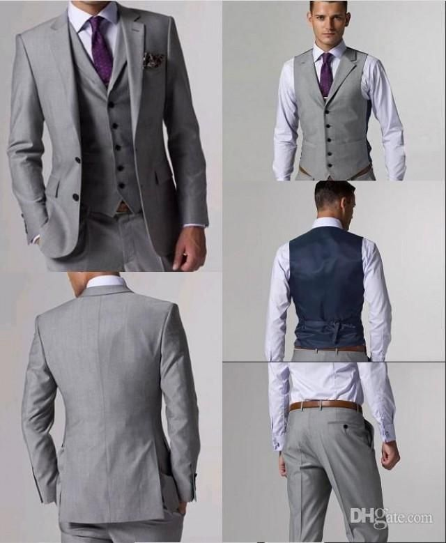 Grey 3 piece suit ll This is perfect for J\'s tuxedo. Description ...