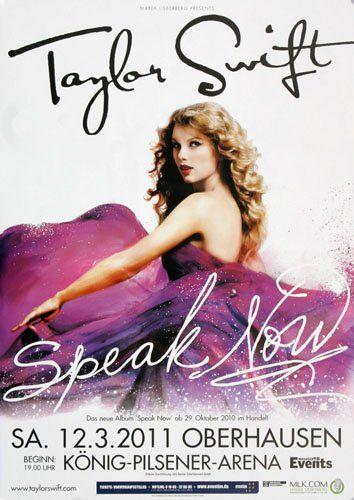 Taylor Swift - Speak OBH 2011 - Concert Poster Plakat