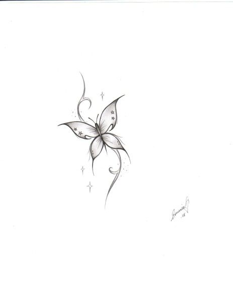 28 best Simple Butterfly Tattoo Designs images on Pinterest
