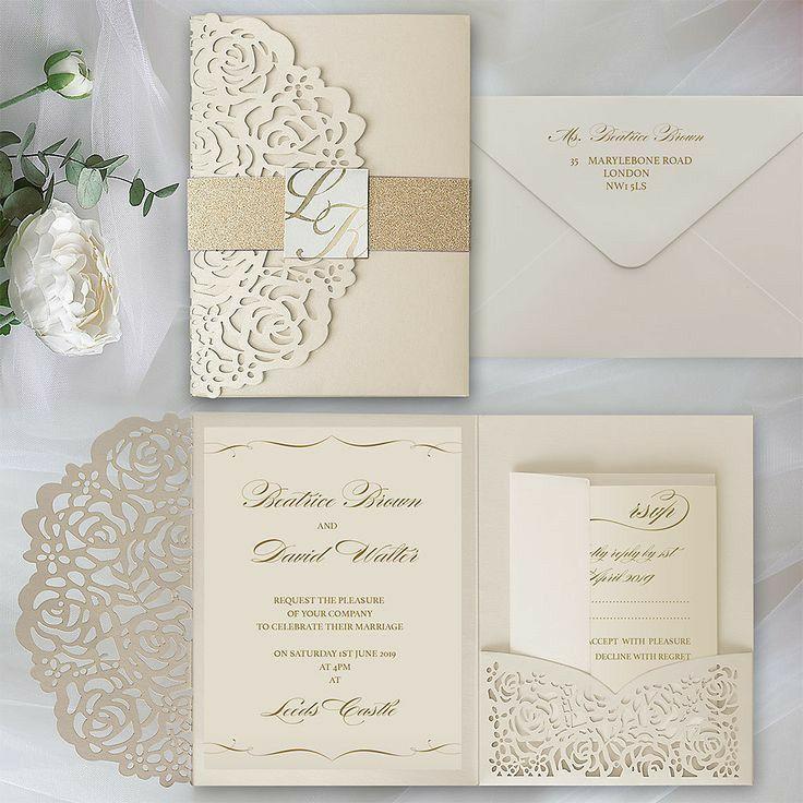 Wedding Invitation Inspiration In 2020 Dusty Pink Wedding Invitations Pocket Wedding Invitations Wedding Invitations Uk