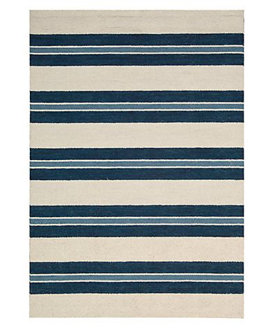 Hand Tufted striped rug.