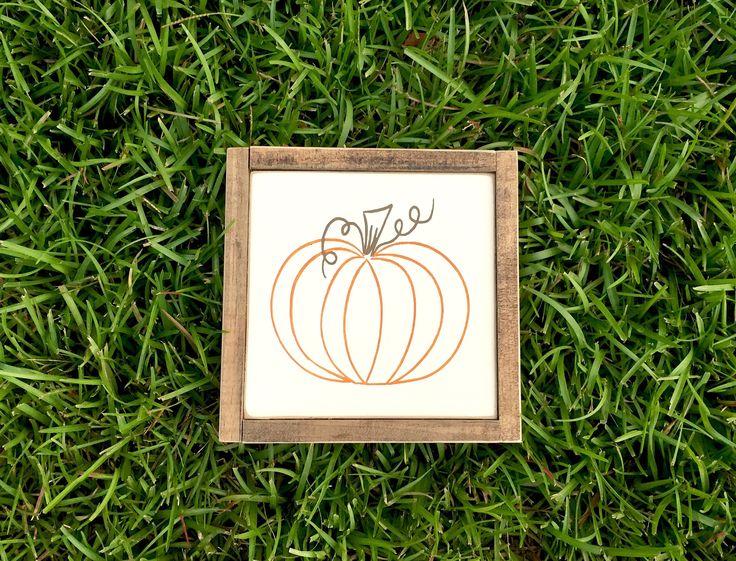 Rustic Pumpkin Fall Wood Sign ~ Fall Sign ~ Pumpkin Sign ~ Rustic Decor ~ Autumn Sign ~ Rustic Sign ~ Fall Home Decor ~ Farmhouse Sign