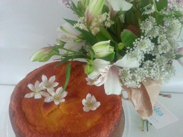 Gluten and Dairy free Orange,  Almond and Rosewater Cake