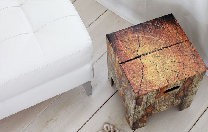 Dutch Design Chair Duurzaam design - these amazing cardboard stools can support up to 30st (420lbs)!