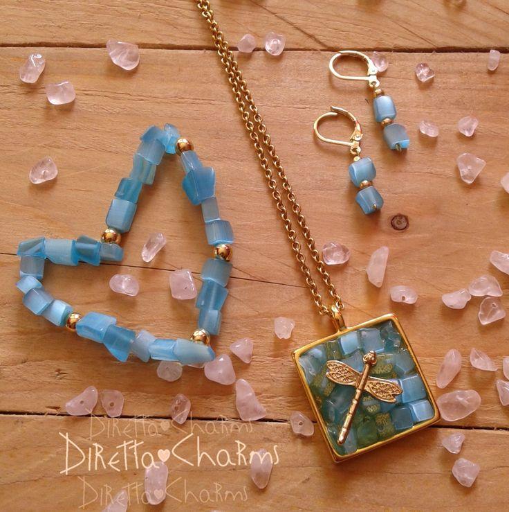 Set en piedras naturales de topacio azul. No te quedes sin el tuyo.  Diretta ♥ Charms Accesorios que resaltan tus encantos.  Envíos nacionales e internacionales.  Info wtp + 57 3127080891  #DirettaCharmsAccesorios #DirettaAccesorios #collar #aretes #pulsera #accesories #lovely #love #instaart #inspiration #topacio #blue #natural #chakra #ham #vishuddha #namaste