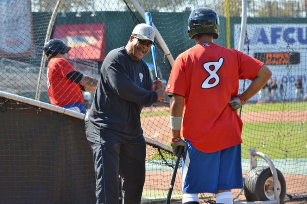George Bell helping minor-league Lansing Lugnuts