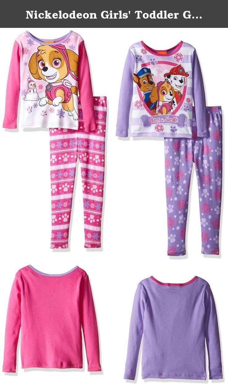 Nickelodeon Girls' Toddler Girls' Shimmer and Shine 4-Piece Pajama Set, Pawsitively Pink, 2T. Snuggle up with your favorite paw patrol friends in these cozy cotton sleepwear sets The bright colors and festive graphics are sure to light up her face the next time she gets ready for bed. Perfect for sleeping and lounging.