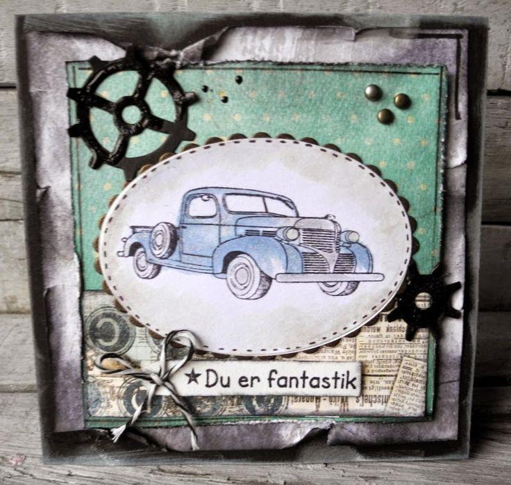 piabau: Herre kort med vintage lastbil