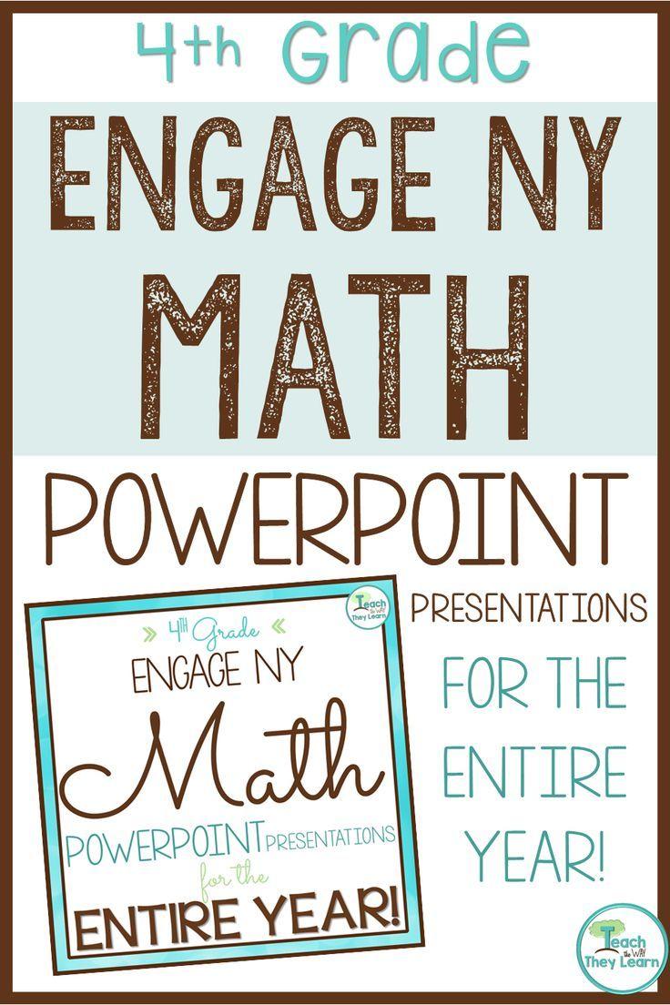 Engage NY Math / Eureka Math PowerPoint Presentations 4th Grade