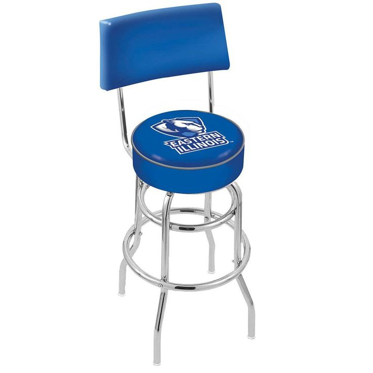 Chrome Eastern Illinois Panthers Double-Rung Swivel Back Bar Stool