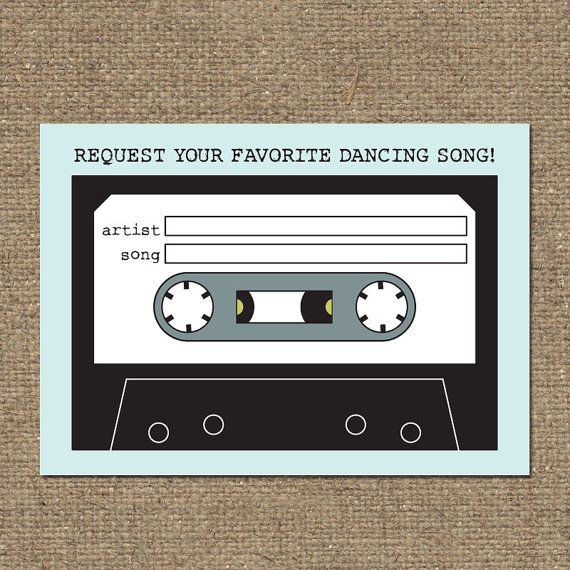 DIY Printable Wedding Song Request Mixtape Card by tonideweese, $10.00 // Made in Oregon