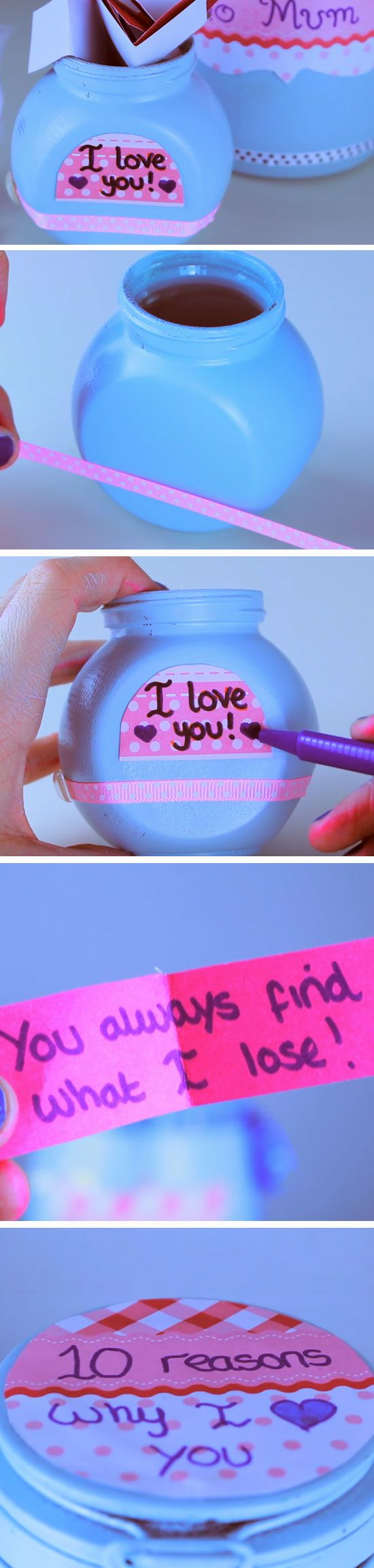 Jar of Love | DIY Mothers Day Gift Ideas from Daughter | Handmade Birthday Gifts for Grandma